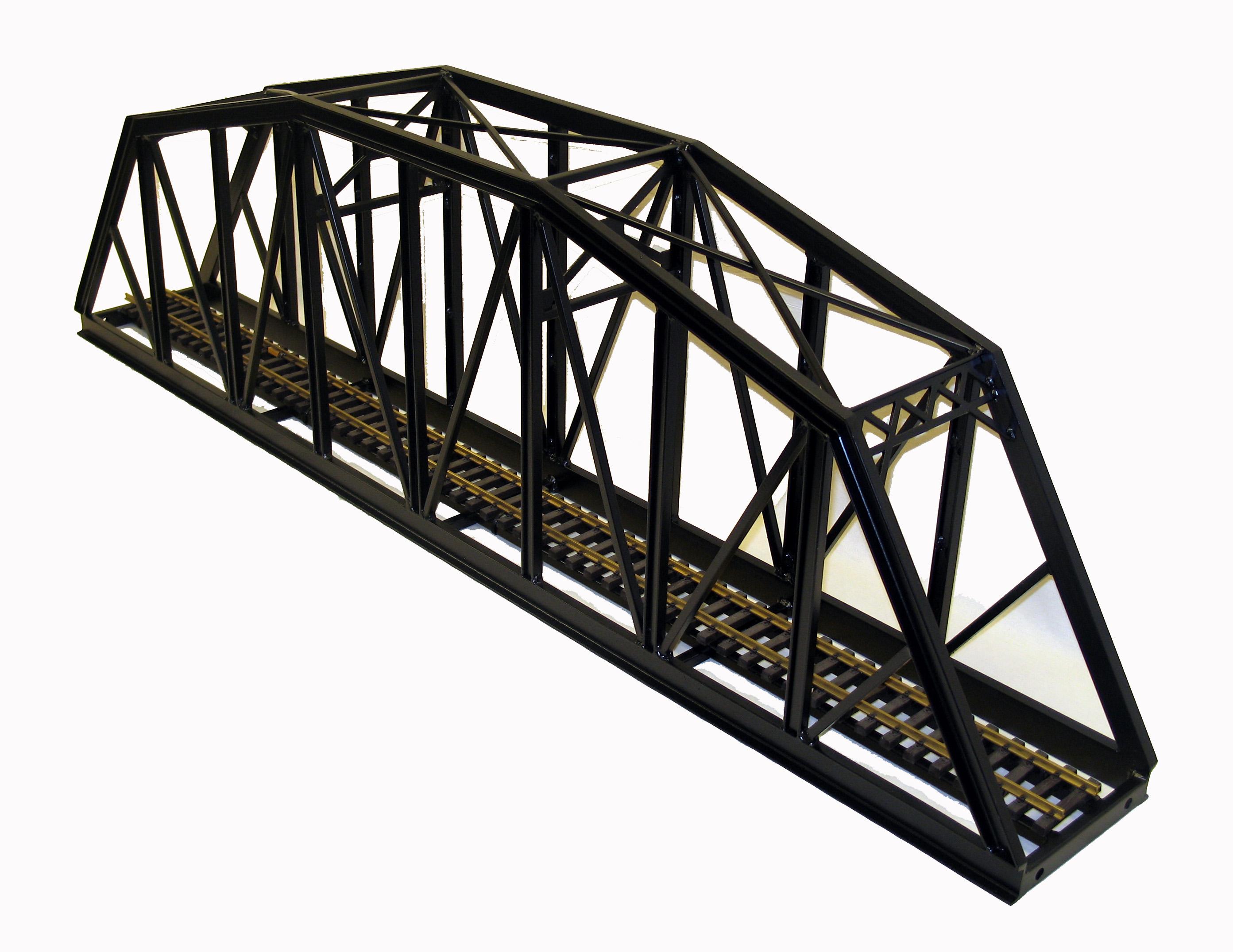 G scale bridges all about garden railroading for Metal garden bridge designs